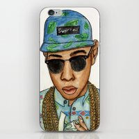 tyler the creator iPhone & iPod Skins featuring Tyler, The Creator by Daniel Cash