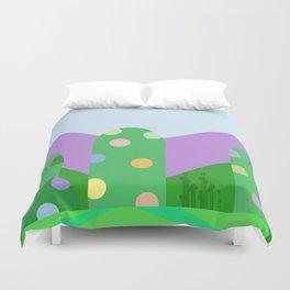 Cute landscape green  Duvet Cover