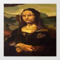 mona lisa Canvas Prints featuring Mona Lisa by Robert Morris