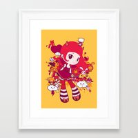 kawaii Framed Art Prints featuring Kawaii by Pamela Barbieri
