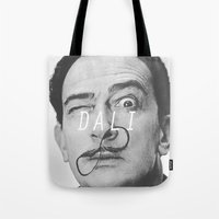salvador dali Tote Bags featuring Salvador Dali by Earl of Grey