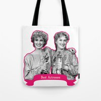 jessica lange Tote Bags featuring Jessica Lange and Meryl Streep by BeeJL