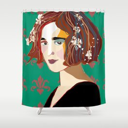 Florentine Spring girl Shower Curtain