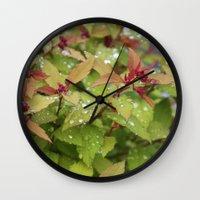drink Wall Clocks featuring Drink by Kim Hawley