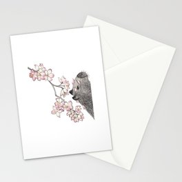 Capybara and petals Stationery Cards