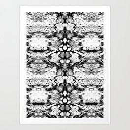 Modern Bohemian Black and White Pattern Art Print
