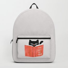 Cat reading book Backpack