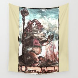 Winter Queen of Wands Wall Tapestry