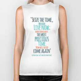 """""""Live now; make now always the most precious time. Now will never come again"""" Captain Picard Biker Tank"""