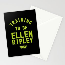 Training to be Ellen Ripley (Black) Stationery Cards