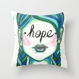 """Words Within: """"Hope"""" Throw Pillow"""