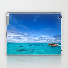 South Pacific Crystal Ocean Dreamscape with Boat Laptop & iPad Skin