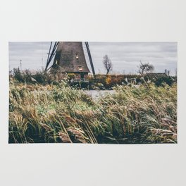 Kinderdijk Windmill Rug
