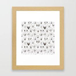 Moustaches and Beards Framed Art Print