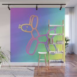 Balloon Dog with Pastel Rainbow Gradients! Wall Mural