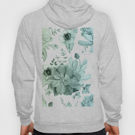 Simply Succulent Garden in Turquoise Green Blue Gradient by followmeinstead