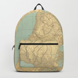 Vintage Map of Cape May NJ (1888) Backpack