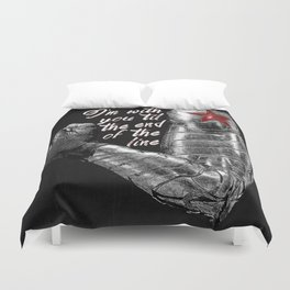 'Til the End of the Line Duvet Cover