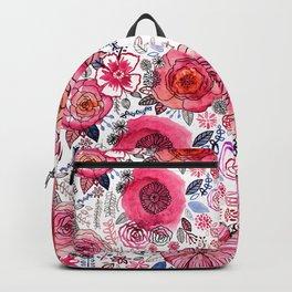 Pink Floral Mix Backpack