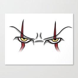 IT Bill Skarsgård Eyes Canvas Print