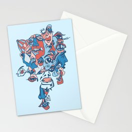 Close-Mouth Grin on a Gap Tooth Brain Freeze Stationery Cards