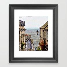 Clovelly Village Framed Art Print