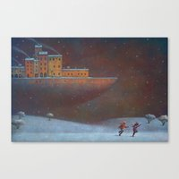 boat Canvas Prints featuring The Boat by Paolo Domeniconi