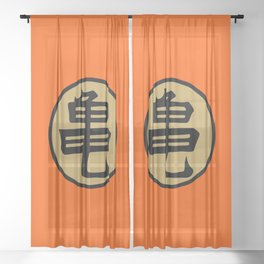 Kame kanji Sheer Curtain