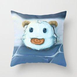 Poro Loves Snaxs Throw Pillow