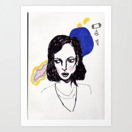 Blue Bubble  Art Print