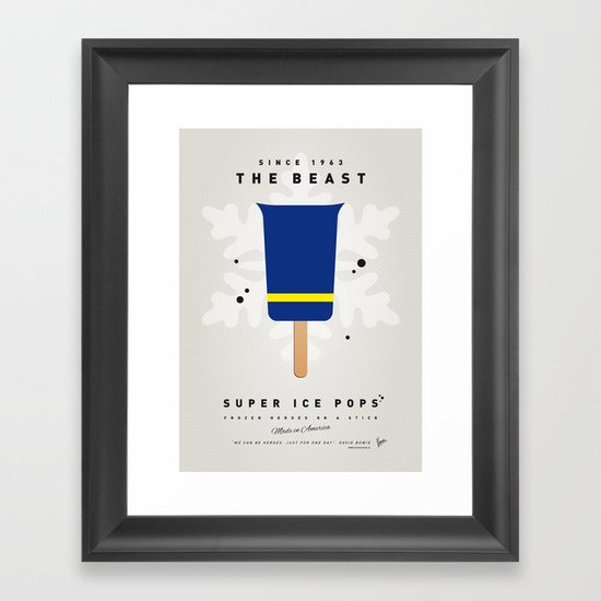 My SUPER ICE POP- No09 Framed Art Print