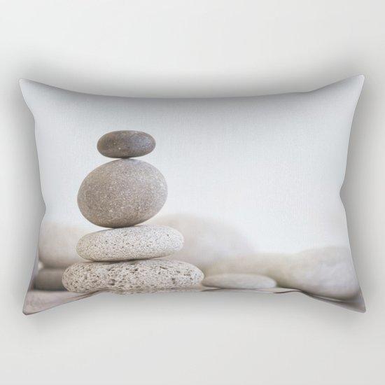 Stone Balance pebble cairn and water Rectangular Pillow