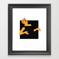 david bowie and the black square of gender Framed Art Print
