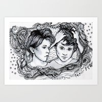 tegan and sara Art Prints featuring Tegan & Sara by JenHoney