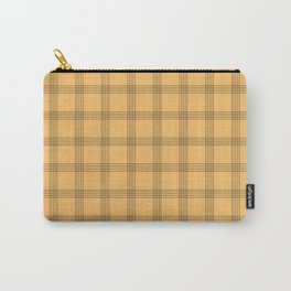 Black Grid on Pale Orange Carry-All Pouch