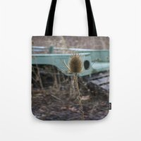 jeep Tote Bags featuring Vintage Jeep by Stephanie Bosworth