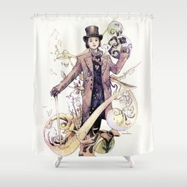 Willy Wonka and his chocolate factory Shower Curtain