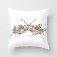 narwhal Throw Pillows featuring Narwhal  by Erin Inglis