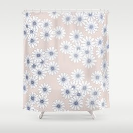 Marguerites on Blush Shower Curtain