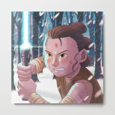 Use the force - Rey Tribute 2 Metal Print