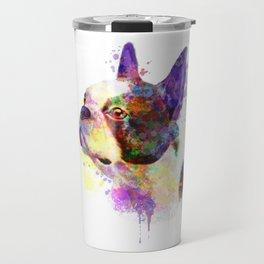 Boston Terrier watercolor, Watercolor Boston Terrier, Watercolor dog, Boston Terrier portrait Travel Mug