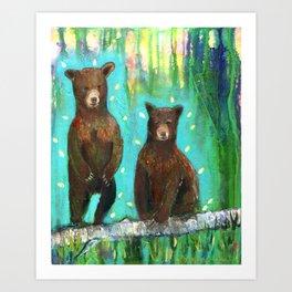 Twin Cubs at Dawn Art Print