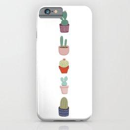 Cactus indoor plants iPhone Case