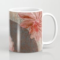 leah flores Mugs featuring Flores by MACACOSS
