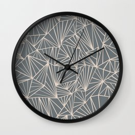 Ab Fan Grey And Nude Wall Clock