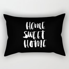 Home Sweet Home watercolor modern black and white minimalist typography home room wall decor Rectangular Pillow
