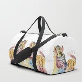 Colorful Zebra Duffle Bag