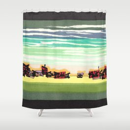 Railroad Town In The West Plains Of Nebraska 32 Shower Curtain