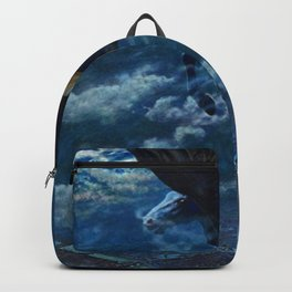 Classic Masterpiece 'Dream Idyll, Female Valkyrie Warrior & Pegasus over London' Backpack