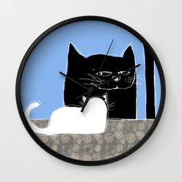 Frisky the Cat Wall Clock